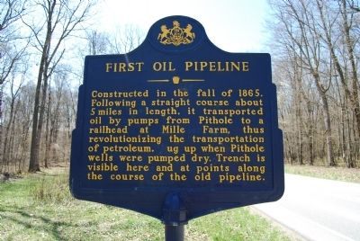 First Oil Pipeline Marker image. Click for full size.