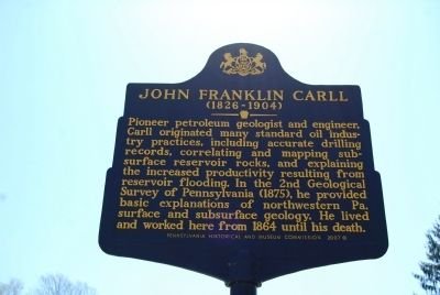 John Franklin Carll Marker image. Click for full size.