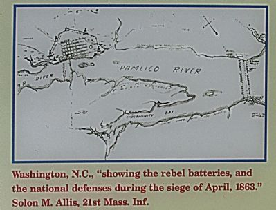 "Washington, N.C. ""showing the rebel batteries...."" Photo, Click for full size"