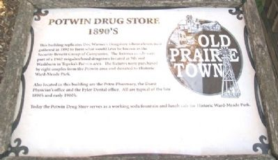 Potwin Drug Store Marker Photo, Click for full size