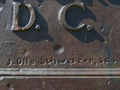 J. Otto Schweizer, sc.<br> (Signature on Plaque) Photo, Click for full size