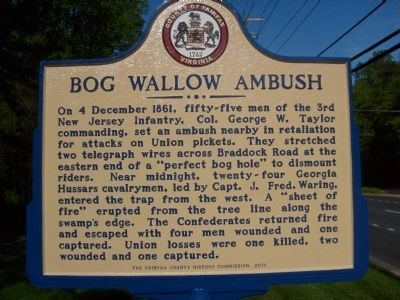 Bog Wallow Ambush Marker Photo, Click for full size