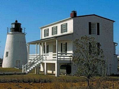 Piney Point Lighthouse and Keeper's House, 2012 image. Click for full size.