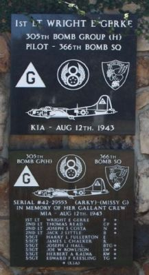 305th Bomb Group 1st Lt Wright E Gerke image. Click for full size.