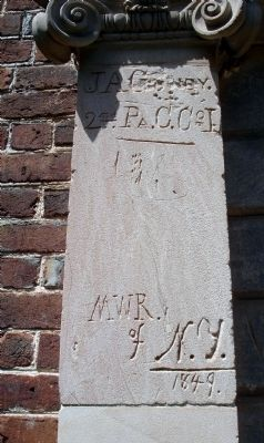 19th century graffiti at Pohick Church image. Click for full size.