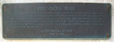 Founders Park Marker image. Click for full size.