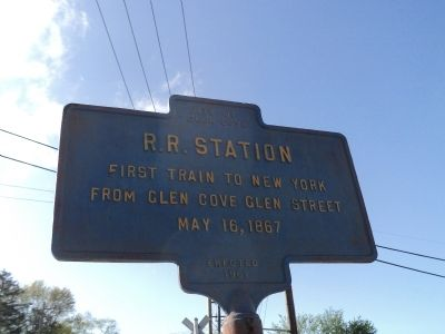 R.R. Station Marker image. Click for full size.