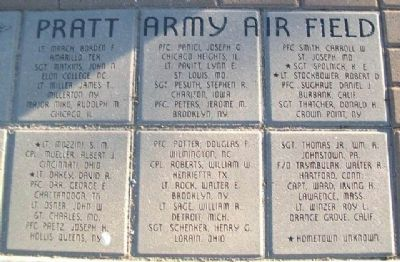 Training Fatalities - Pratt Army Air Field Marker image. Click for full size.