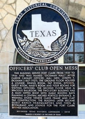 Officers' Club Open Mess Marker image. Click for full size.