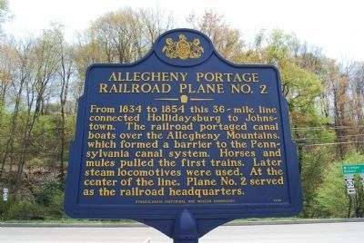 Allegheny Portage Railroad Plane No. 2 Marker image. Click for full size.