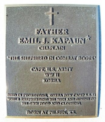 Father Emil J. Kapaun Marker image. Click for full size.