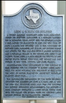 Leon & H. Blum Co. Building Marker image. Click for full size.