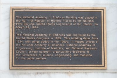National Academy of Sciences Marker Panel 2 image. Click for full size.