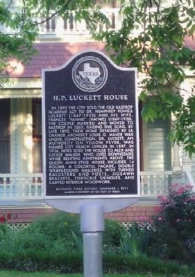 H. P. Luckett House Marker image. Click for full size.