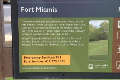 Fort Miamis National Historic Site Marker image. Click for full size.