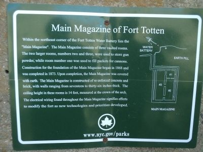 Main Magazine of Fort Totten Marker image. Click for full size.