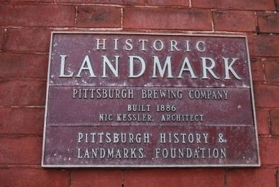Pittsburgh Brewing Company Marker image. Click for full size.