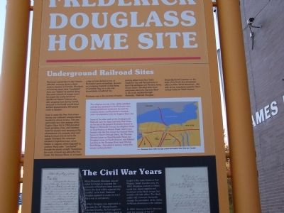 Douglass Home Site Marker Detail 1 image. Click for full size.