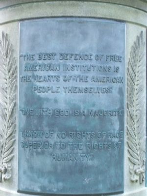 2 of 3 quote tablets on the base of the Monument image. Click for full size.