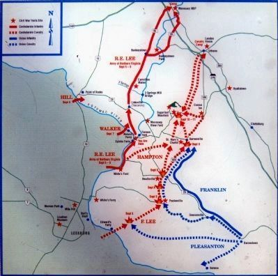 Map -- Antietam Campaign, 1862 Photo, Click for full size