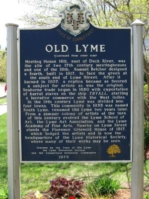 Old Lyme Marker image. Click for full size.