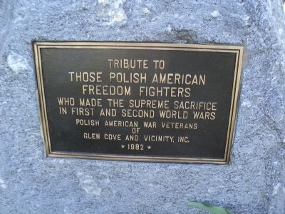 Polish American Freedom Fighters Marker image. Click for full size.