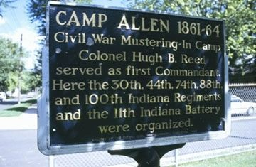 Camp Allen 1861-64 Marker image. Click for full size.