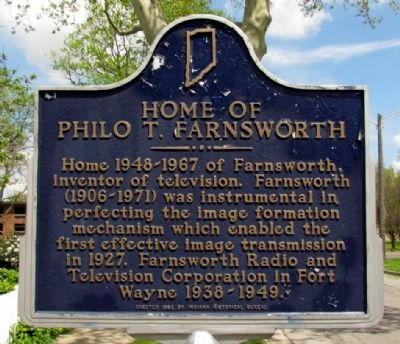 Home of Philo T. Farnsworth Marker image. Click for full size.