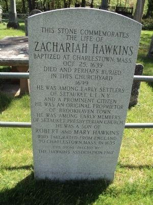 Zachariah Hawkins Marker image. Click for full size.