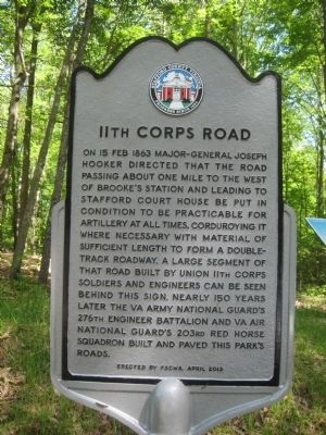 11th Corps Road Marker image. Click for full size.