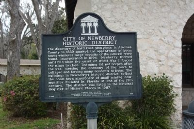 City of Newberry Historic District Marker image. Click for full size.