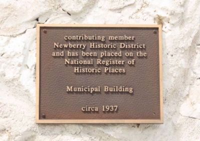 Newberry Historic District , Municipal Building placed on the National Register of Historic Places image. Click for full size.