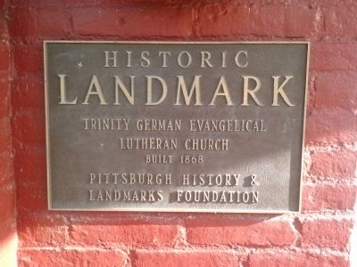 Trinity German Evangelical Lutheran Church Marker image. Click for full size.