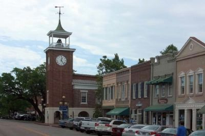 Town Clock seen along Front Street. image. Click for full size.