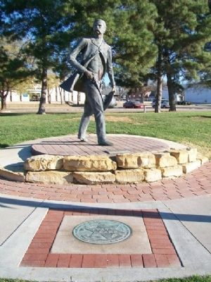 Wyatt Earp Statue and Marker image. Click for full size.