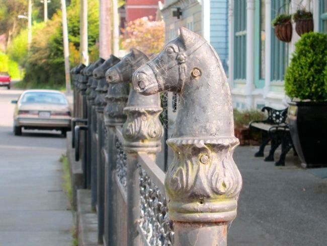 11-Horse Hitching Post Herd (Ocean Avenue) image. Click for full size.