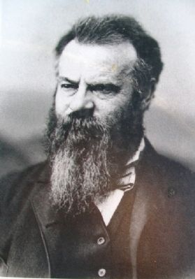 John Wesley Powell Photo on The 100th Meridian Marker image. Click for full size.