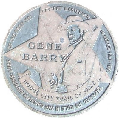 Gene Barry Marker image. Click for full size.