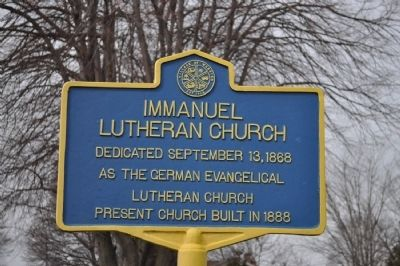 Immanuel Lutheran Church Marker image. Click for full size.