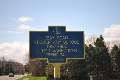 Bay Road Elementary School Marker image. Click for full size.