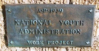 National Youth Administration Work Project Marker at H.B. (Ham) Bell Monument image. Click for full size.