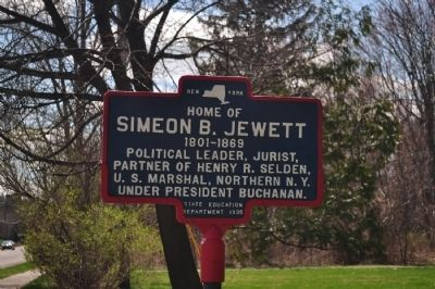 Home of Simeon B. Jewett Marker image. Click for full size.