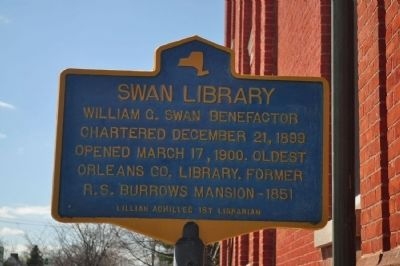 Swan Library Marker image. Click for full size.