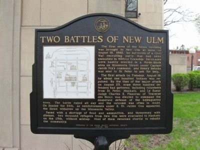 Two Battles of New Ulm Marker image. Click for full size.
