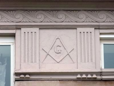 Architectural Detail<br>Stansbury Masonic Temple image. Click for full size.