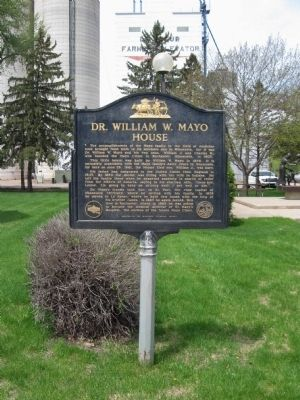 Dr. William W. Mayo House Marker image. Click for full size.