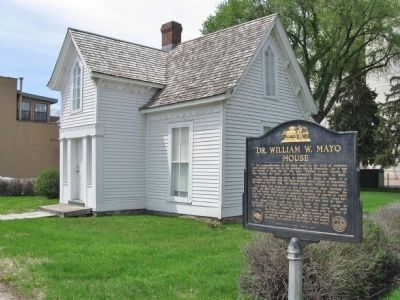 Dr. William W. Mayo House and Marker image. Click for full size.