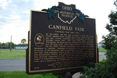 Canfield Fair Marker - Side B image. Click for full size.