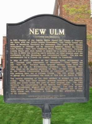 New Ulm Marker image. Click for full size.