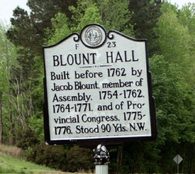 Blount Hall Marker image. Click for full size.